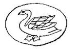 Poincon-Argent-Occasion-Origine-inconnue-Cygne-Petit-BLANC-France