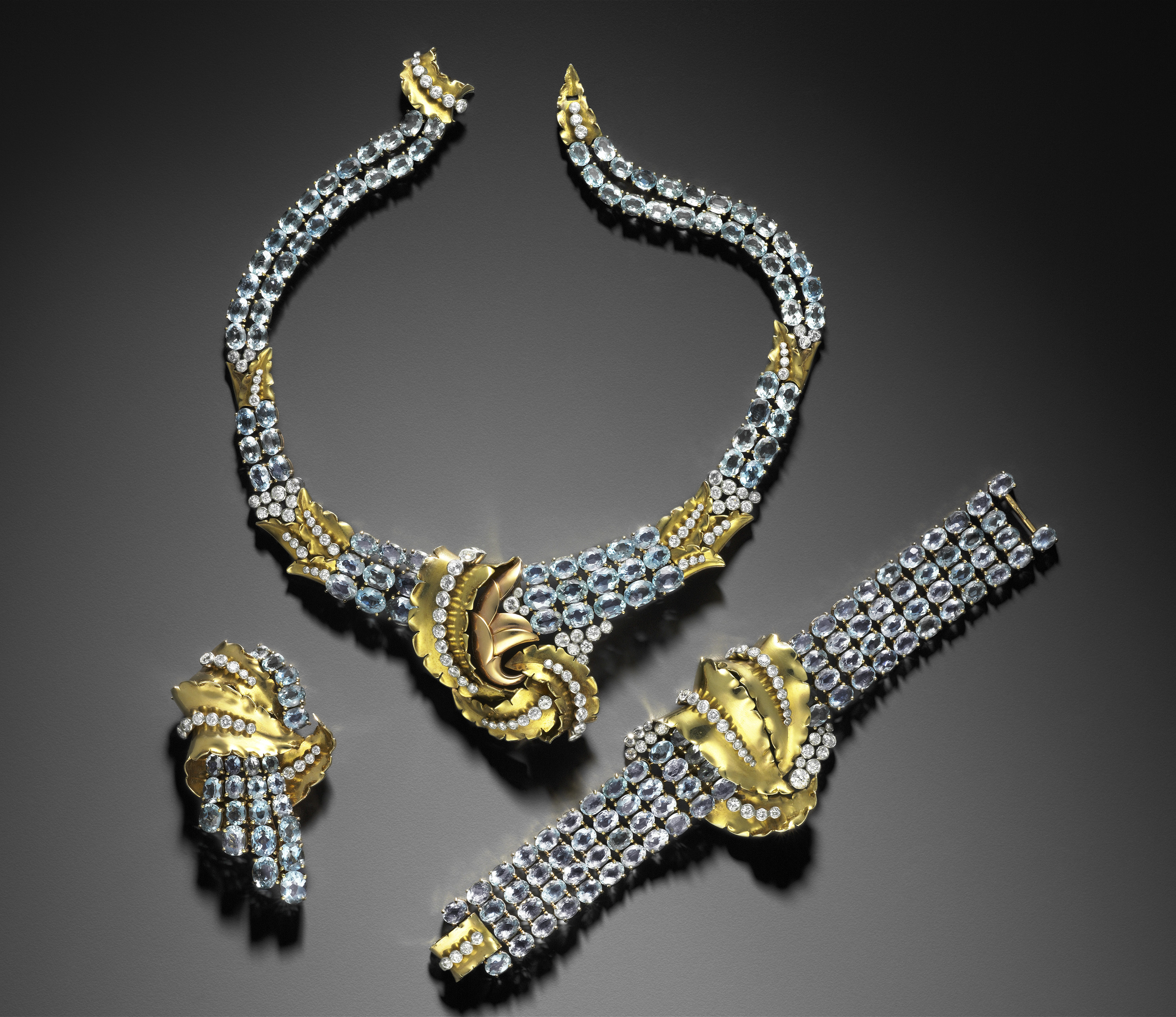 12. Joan Crawford suite of jewelry