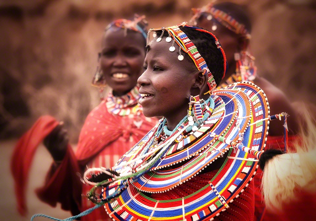 A Masai Woman in Amboselli, Kenya
