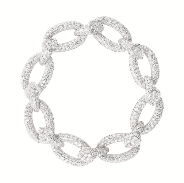 Serpent Bohäme Bracelet  set with pavÇ diamonds, in white gold