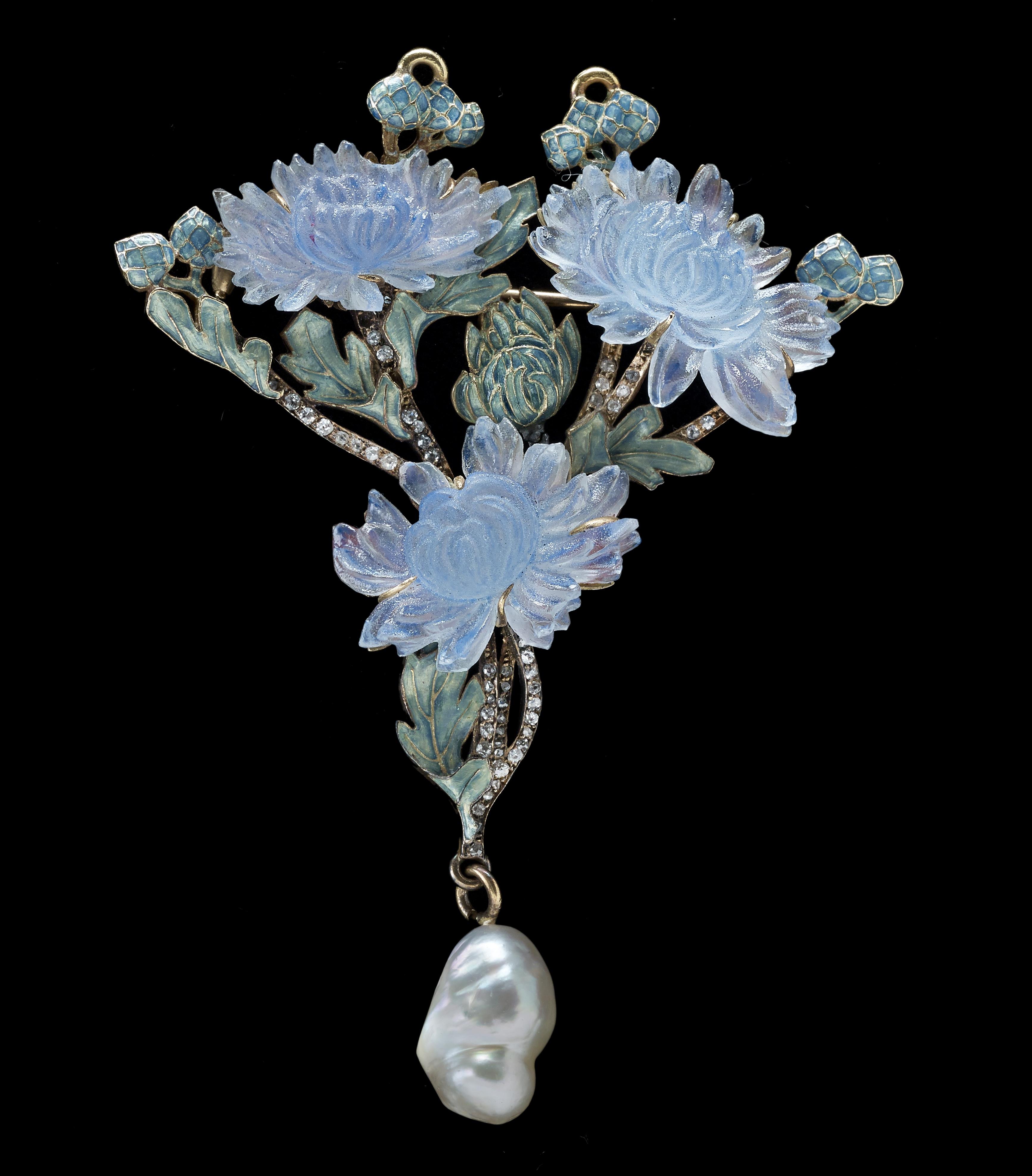 2-René-Lalique-Chrysanthemum-Pendant-Brooch