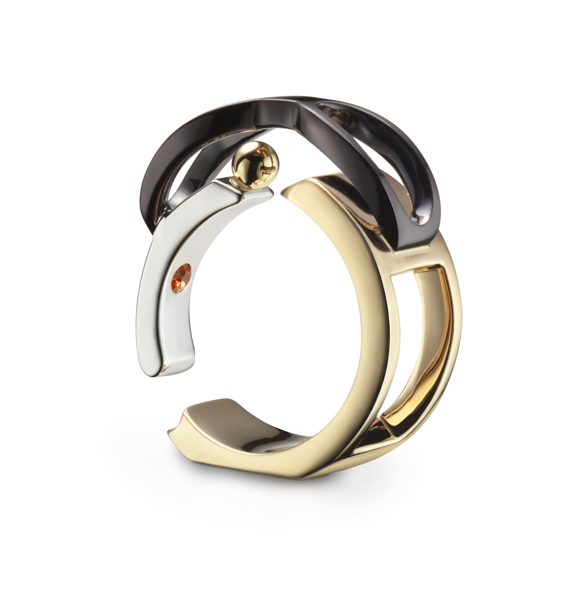 Bague Chillida 3quart pierre