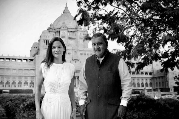 Son Altesse le Maharadjah de Jodhpur et Claire Choisne