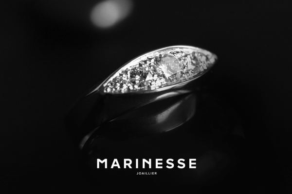 Bague or blanc Diamants ©MARINESSE