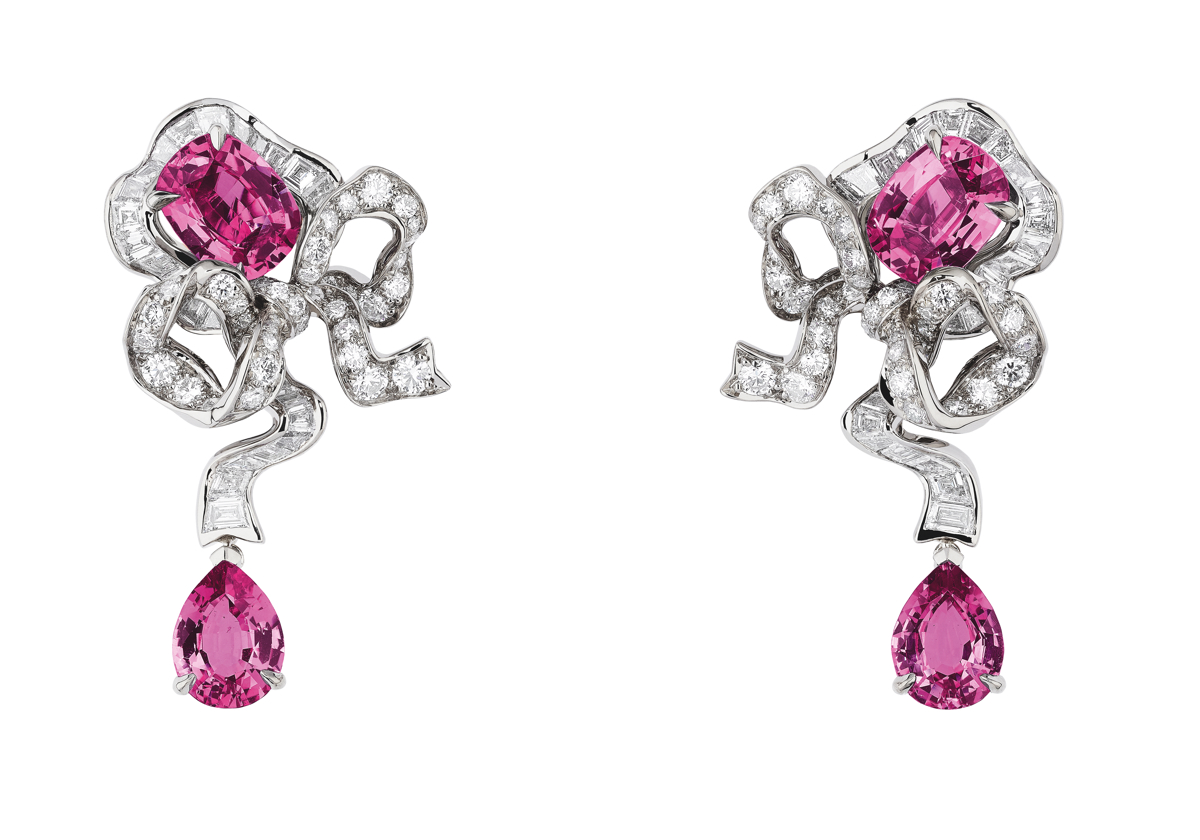 FONTANGE SAPHIR ROSE EARRINGS
