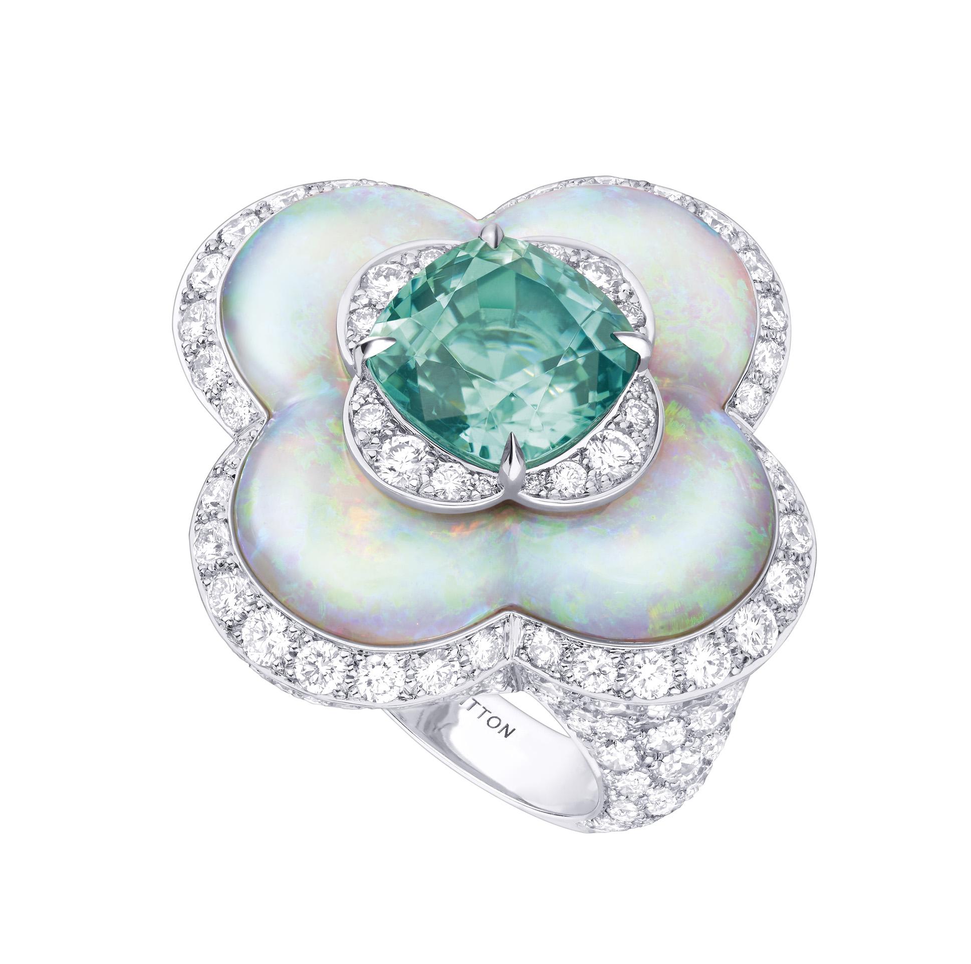 LV - Blossom - Tourmaline & Opal - 1