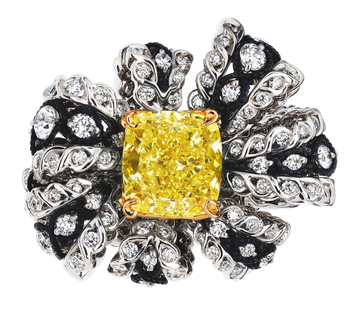 SALON DE VÉNUS DIAMANT JAUNE RING