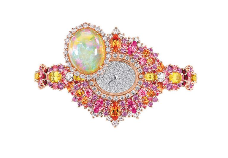 JOLY93023 - EXQUISE OPAL HIGH JEWELLERY TIMEPIECE (2)