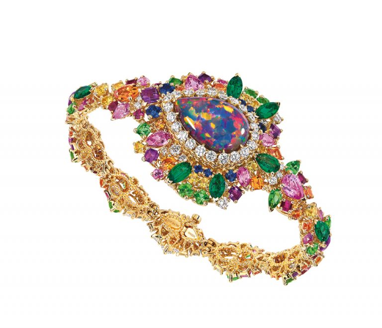 JOLY93026 - MAJESTUEUSE OPAL HIGH JEWELLERY TIMEPIECE (3)