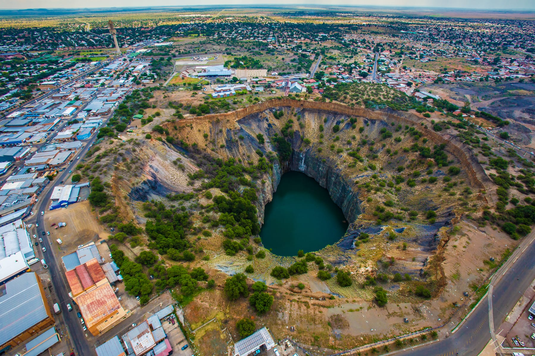 diamant, big hole, Kimberley mine